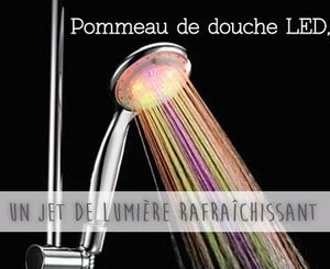 pommeau de douche led un jet de lumi re rafra chissant. Black Bedroom Furniture Sets. Home Design Ideas