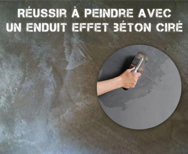 Russir  Peindre Avec Un Enduit Effet Bton Cir  TopdecoPro