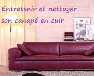 comment entretenir et nettoyer son canap cuir. Black Bedroom Furniture Sets. Home Design Ideas