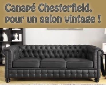 Canapé Chesterfield, pour un salon vintage