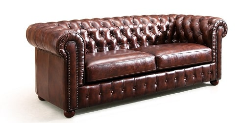 canap chesterfield pour un salon vintage. Black Bedroom Furniture Sets. Home Design Ideas