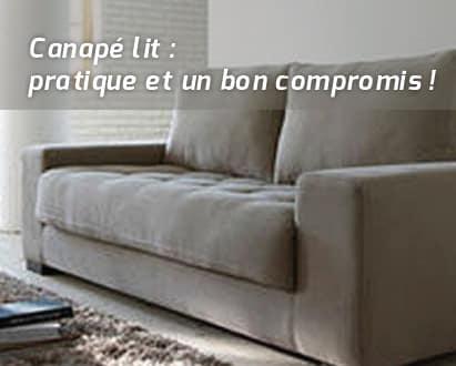 canap lit un bon compromis. Black Bedroom Furniture Sets. Home Design Ideas