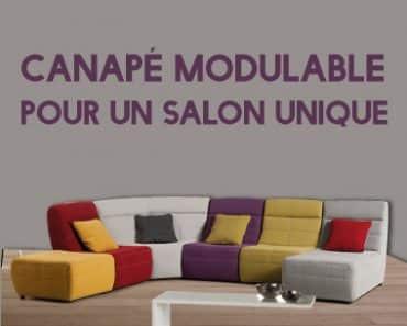 Canapé modulable, pour un salon unique