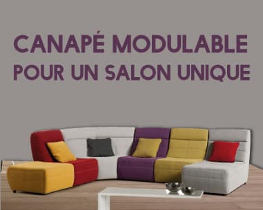 D coration canape modulable lin 16 caen canape for Canape modulable