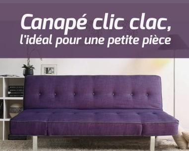 canap clic clac l 39 id al pour une petite pi ce. Black Bedroom Furniture Sets. Home Design Ideas