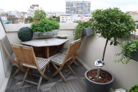 Décoration balcon, coin salon