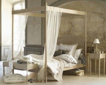 Décoration chambre parentale, ciel de lit