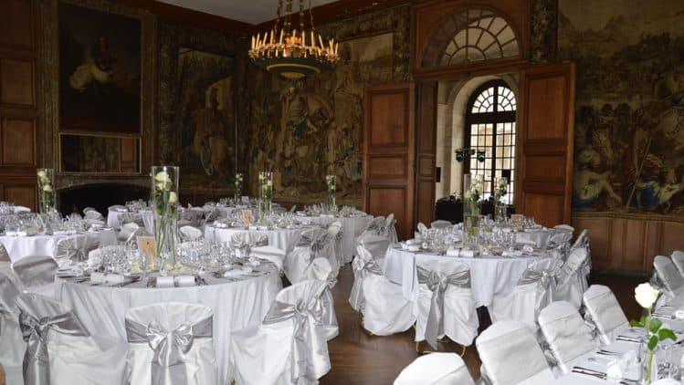 Décoration de mariage château