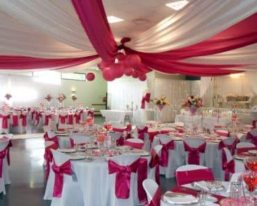Décoration de mariage, salle