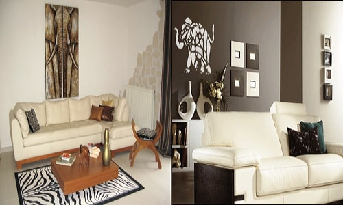 deco africaine pour salon id e inspirante pour la conception de la maison. Black Bedroom Furniture Sets. Home Design Ideas