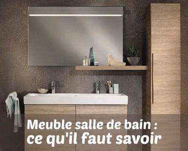 Des meubles salle de bain de petit format