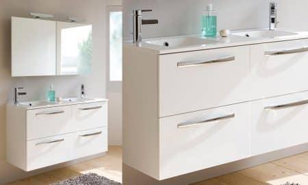 Un ensemble de meuble salle de bain en mélaminé