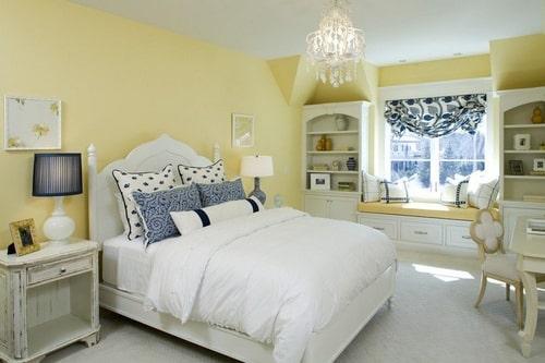 Peinture chambre : jaune