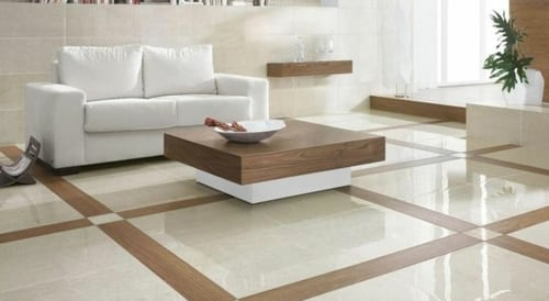 Carrelage salon combinaison de couleur clair et fonc with for Carrelage octogonal blanc